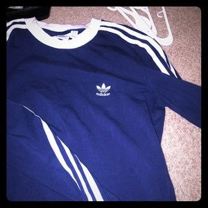Long sleeve Adidas blue shirt